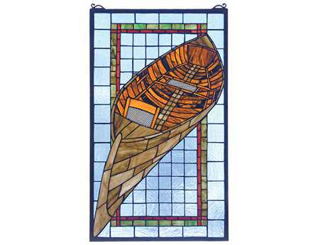 Meyda Tiffany Guideboat Stained Glass Window