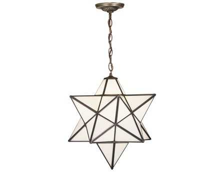 Meyda Tiffany Moravian Star White Pendant