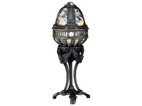 Meyda Lighting Castle Swan Purple Blue Accent Lamp