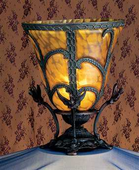 Meyda Tiffany Castle Bell Yellow Accent Table Lamp
