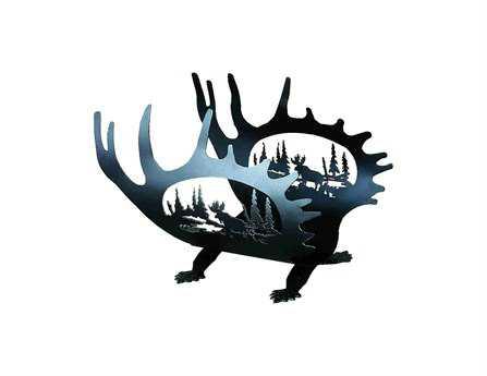 Meyda Tiffany Moose Antler Log Holder