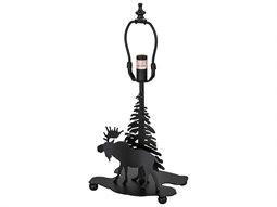 Meyda Tiffany Lone Moose Base Table Lamp Base
