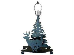 Meyda Tiffany Lone Deer Black Table Lamp Base