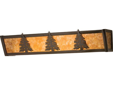 Meyda Tiffany Pine Tree Four-Light Vanity Light