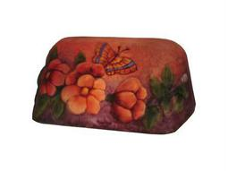 Meyda Tiffany Puffy Butterfly & Flowers Bankers Shade