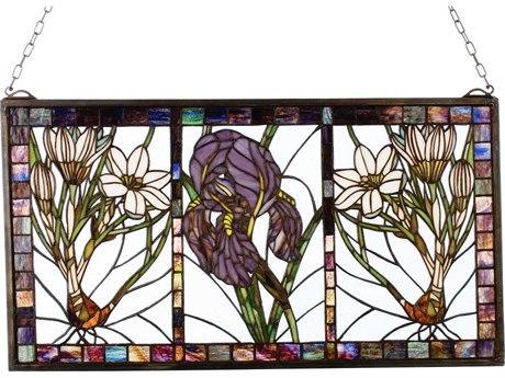 Meyda Tiffany Spring Triptych Stained Glass Window