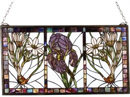 Meyda Tiffany Spring Triptych Stained Glass Window