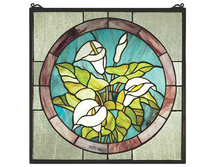 Meyda Tiffany Calla Lily Stained Glass Window