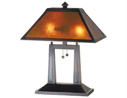 Meyda Tiffany Van Erp Amber Mica Oblong Yellow Table Lamp