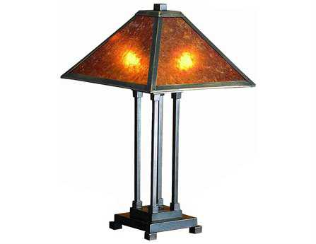 Meyda Tiffany Van Erp Amber Mica Table Lamp