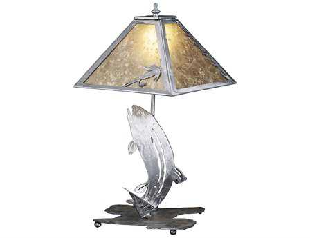 Meyda Tiffany Leaping Trout Multi-Color Table Lamp