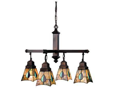 Meyda Tiffany Mackintosh Leaf Four-Light 26 Wide Grand Chandelier