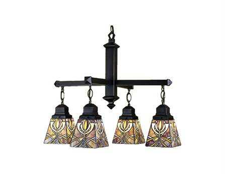 Meyda Tiffany Glasgow Bungalow Four-Light 26 Wide Grand Chandelier