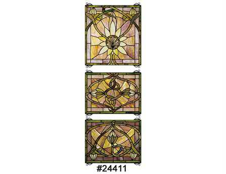 Meyda Tiffany Solstice 3 Piece Stained Glass Window