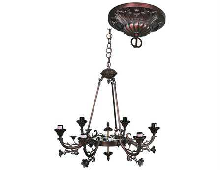 Meyda Tiffany Victorian 6 Arm Eight-Light 26 Wide Chandelier