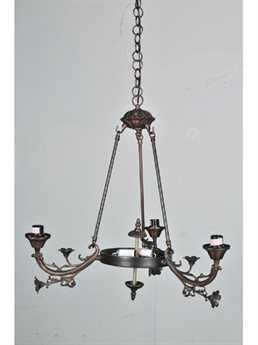 Meyda Tiffany Victorian Arm Three-Light 26 Wide Chandelier