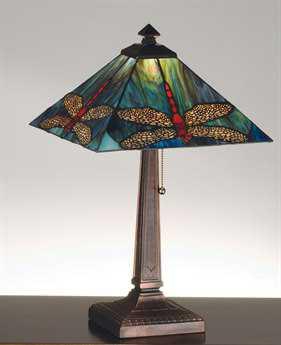 Meyda Tiffany Prairie Dragonfly Multi-Color Table Lamp