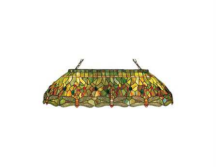 Meyda Tiffany Hanginghead Dragonfly Six-Light Oblong Pendant