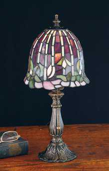 Meyda Tiffany Flowering Lotus Multi-Color Accent Table Lamp