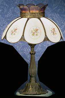 Meyda Tiffany Rose Bouquet Beige Table Lamp