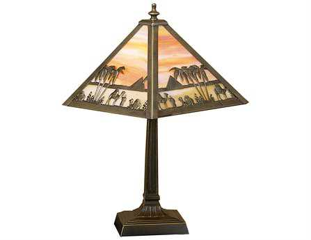 Meyda Tiffany Camel Mission Multi-Color Accent Table Lamp