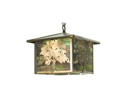 Meyda Tiffany Oak Tree Outdoor Hanging Light