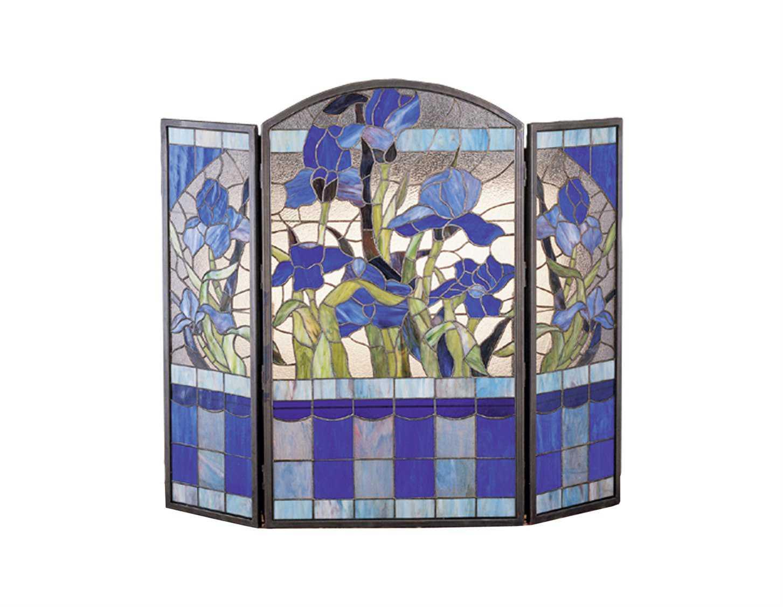 Meyda Tiffany Iris Folding Fireplace Screen My27236