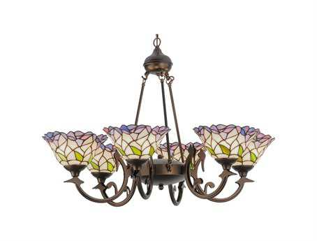 Meyda Tiffany Daffodil Bell Six-Light 33 Wide Chandelier