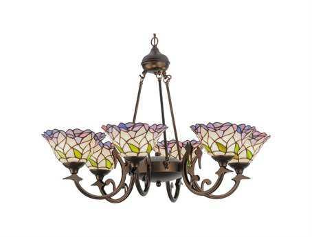 Meyda Tiffany Daffodil Bell Six-Light 33 Wide Chandelier