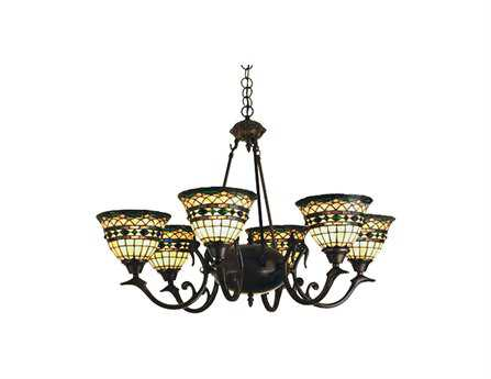 Meyda Tiffany Roman Six-Light 32 Wide Chandelier