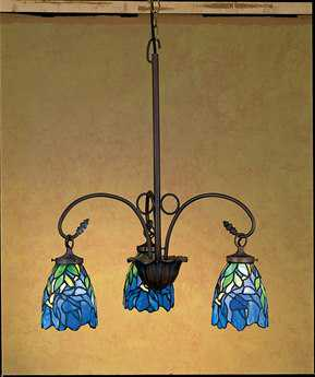 Meyda Tiffany Iris Three-Light 24 Wide Chandelier