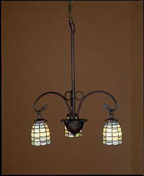 Meyda Tiffany Sea Scallop Three-Light 23 Wide Chandelier