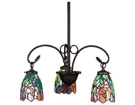 Meyda Tiffany Iris Three-Light 21 Wide Chandelier