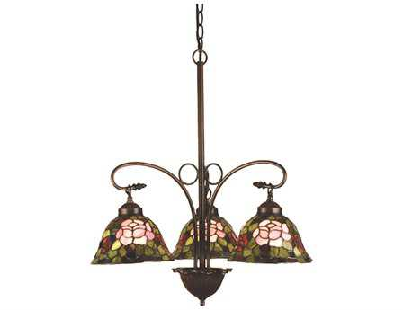 Meyda Tiffany Rosebush Three-Light 24 Wide Chandelier