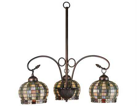 Meyda Tiffany Jeweled Basket Three-Light 23 Wide Chandelier