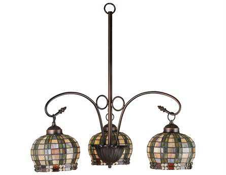 Meyda Tiffany Jeweled Basket Three-Light 23 Wide Chandelier