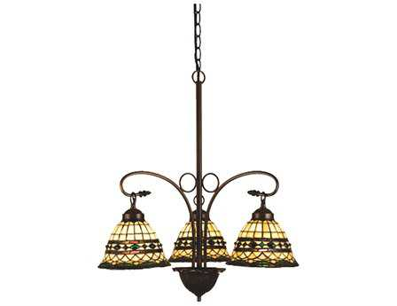Meyda Tiffany Roman Three-Light 24 Wide Chandelier