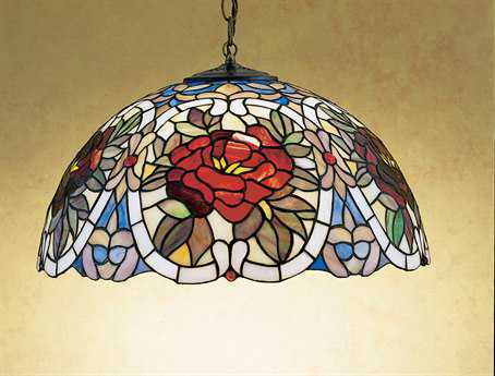 Meyda Tiffany Renaissance Rose Three-Light Pendant