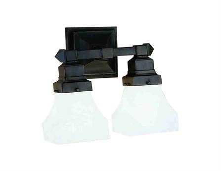 Meyda Tiffany Bungalow White Alabaster Swirl Two-Light Wall Sconce
