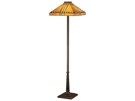 Meyda Tiffany Prairie Corn Brown Floor Lamp