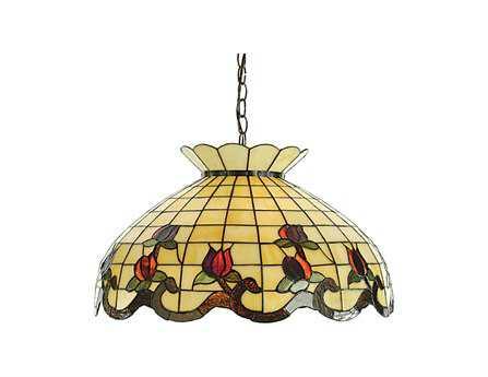 Meyda Tiffany Roseborder Three-Light Pendant