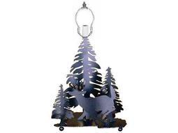 Meyda Tiffany Lone Deer Black Table Lamp Base