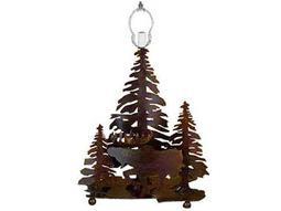 Meyda Tiffany Moose On The Loose Rust Table Lamp Base