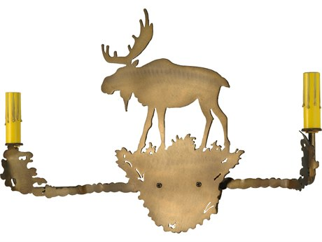 Meyda Tiffany Moose Two-Light Vanity Light