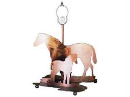 Meyda Tiffany Mare & Foal Antique Copper Table Lamp Base