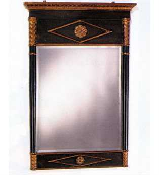 Meyda Tiffany 27 x 40 Empire Dark Brown Beveled Wall Mirror