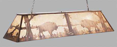 Meyda Tiffany Buffalo At Lake Nine-Light Oblong Pendant