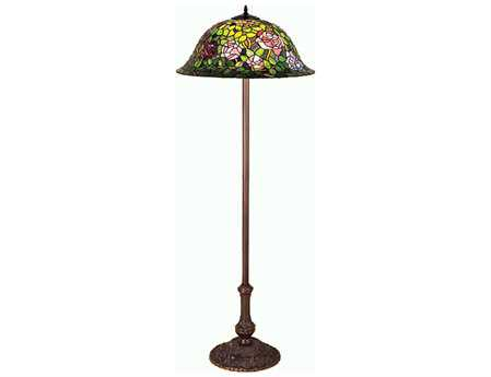 Meyda Tiffany Rosebush Multi-Color Floor Lamp