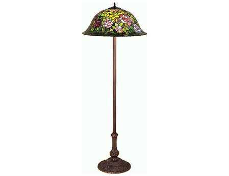 Meyda Tiffany Rosebush Multi-Color Floor Lamp