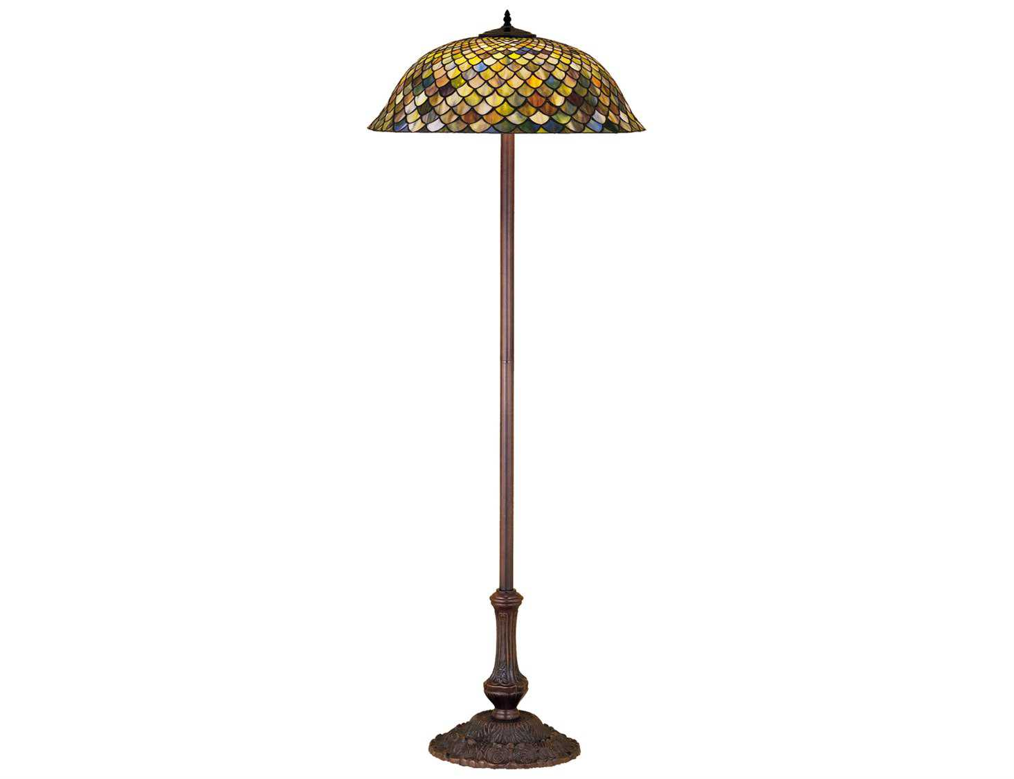 Meyda tiffany fishscale green floor lamp my30456 for Off set floor lamp